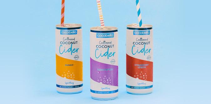Cocobella Coconut Cider flavours